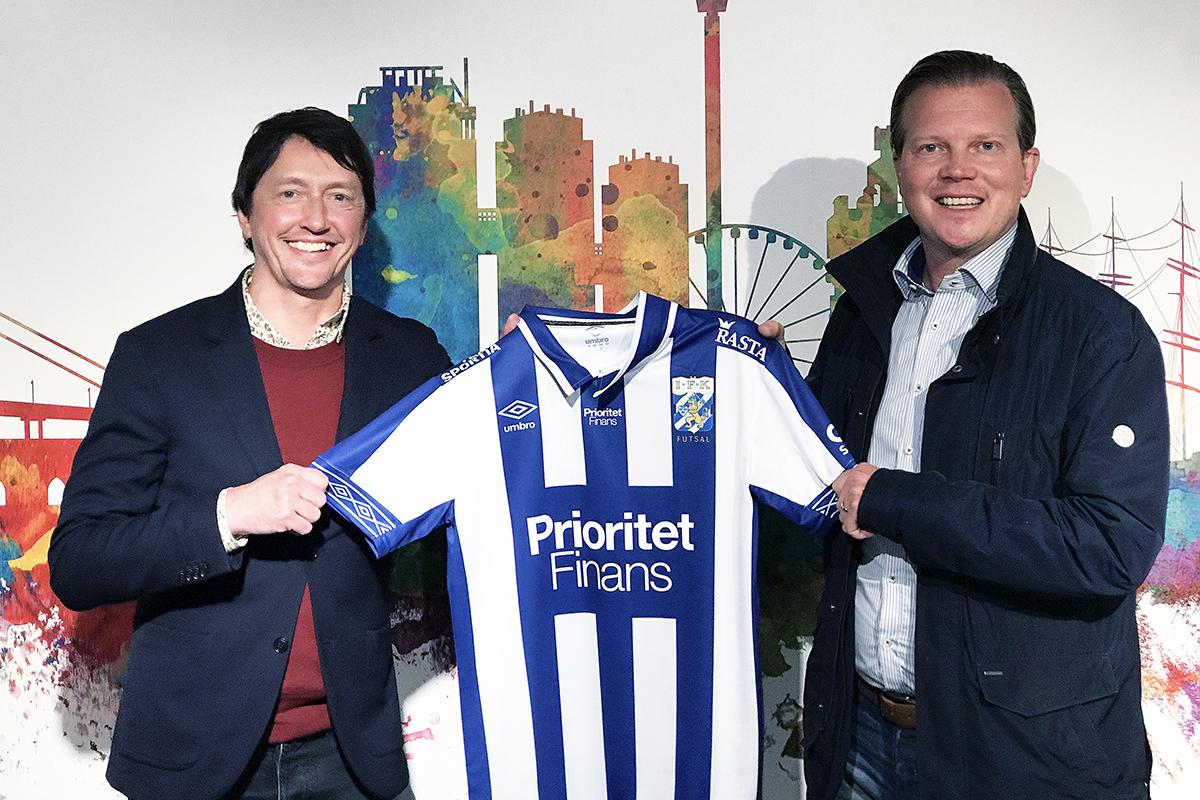 Prioritet Finans blir stjärnsponsor till IFK Göteborg Futsal